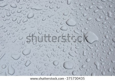 water droplet on grey plastic floor