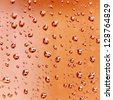 Water droplets background - texture close -up - stock photo