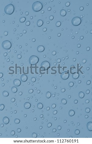 Water droplets on a clean surface. - stock photo