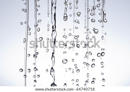 Water droplets on white background - stock photo