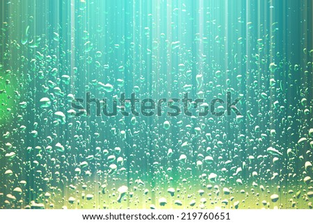 water drops abstract background - stock photo