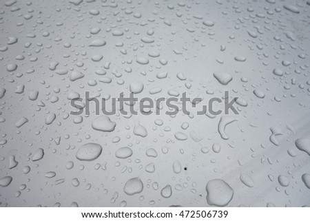 water drops an silver  background , dirty