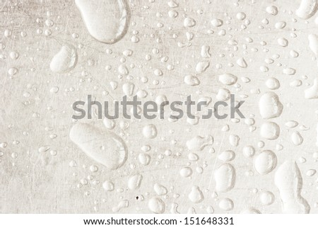 water drops an white background - stock photo