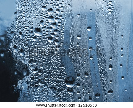 water drops and frost background - stock photo