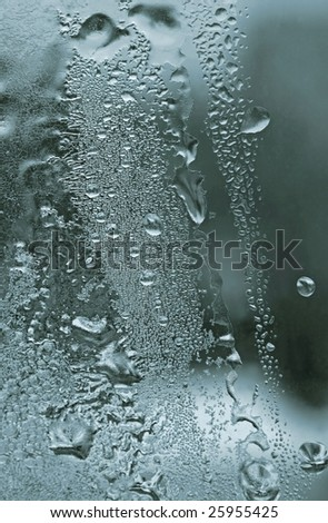 water drops and frost texture - stock photo