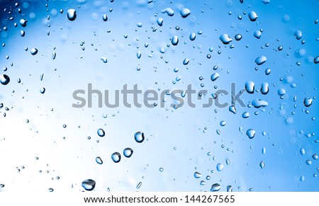 Water drops background, close-up