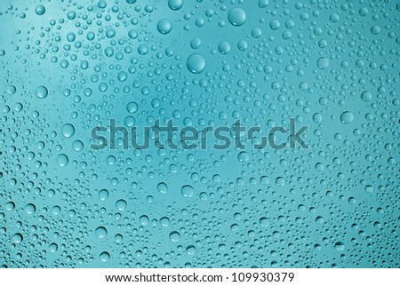 Water drops background, covered with water drops - condensation, close - up. - stock photo