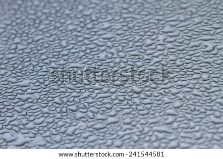 water drops background on metel, abstract background