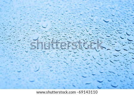 water drops background texture - stock photo