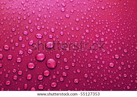 Water Drops background with big and small drops - stock photo