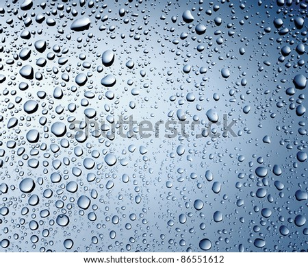 Water drops background with copy space - stock photo
