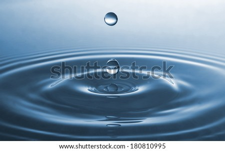 Water drops closeup - stock photo