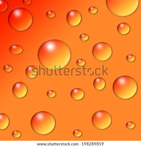 Water drops collage  - stock photo