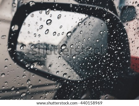Water drops from a rainstorm