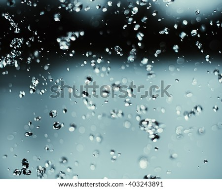 water drops in a blurred background  - stock photo