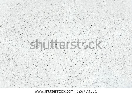 Water drops isolated on white background - stock photo