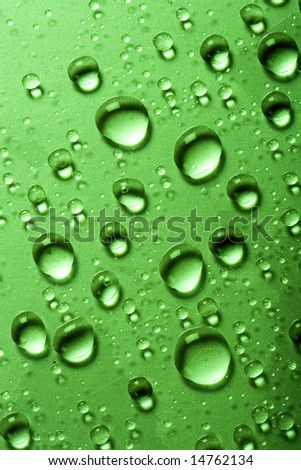 Water drops on a glass surface - stock photo
