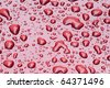 Water drops on a metallic red surface - stock photo