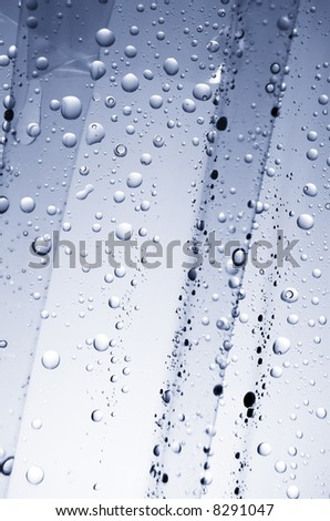 Water drops on a plastic - stock photo