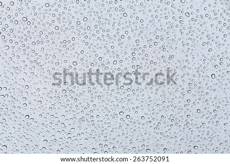 Water drops on a transparent window background - stock photo