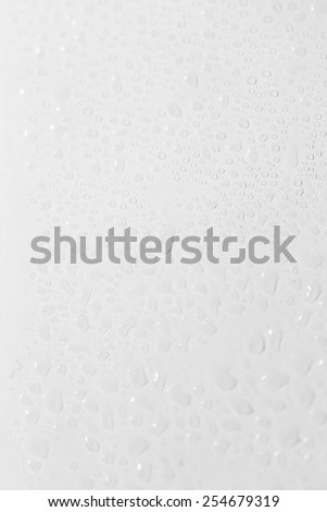 water drops on a white background. close-up - stock photo