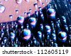 Water drops on cd - stock photo