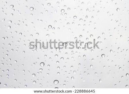 Water drops on clear plastic - stock photo