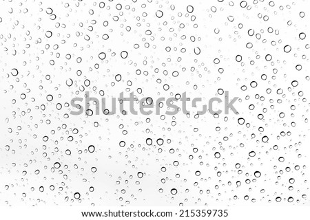 Water drops on glass. - stock photo