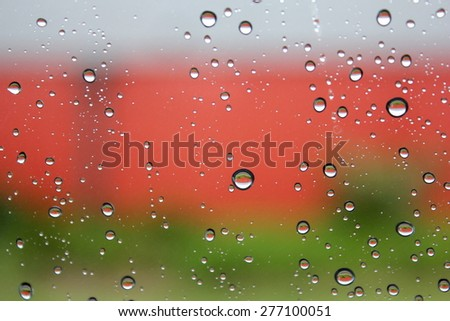 Water Drops on Glass 3 - stock photo