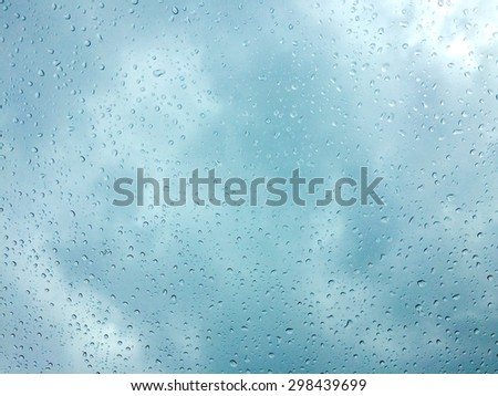 water drops on glass for background