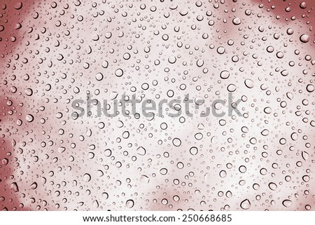 Water drops on glass in Marsala color, very detailed use as background - stock photo