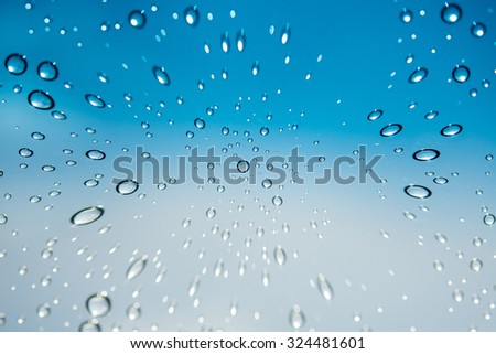 Water drops on glass ,Movement of water drop on glass ,Out of focus water drop movement background