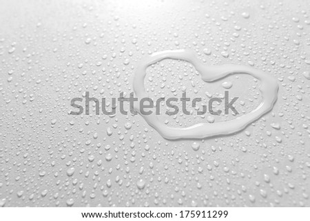 Water drops on light background - stock photo