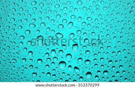 water drops on metal color - stock photo
