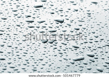 Water drops on mirror
