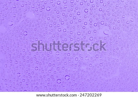water drops on purple background - stock photo