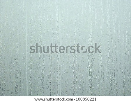 Water drops on steamed up window . Ideal for background and fills. - stock photo