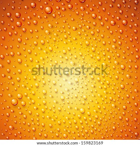 Water drops on surface as background.  illustration. - stock photo