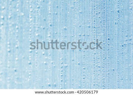 Water drops on the background. Condensate. Aqua background. Water drops background. - stock photo