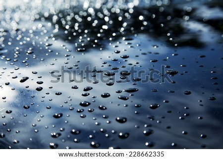 Water Drops On The Car - stock photo