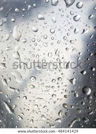 Water drops on the glass window