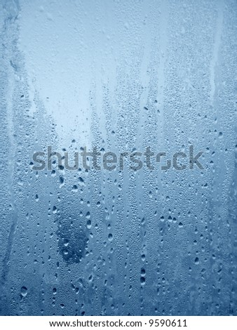 Water drops on wet window