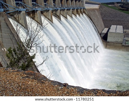 Water escaping - stock photo