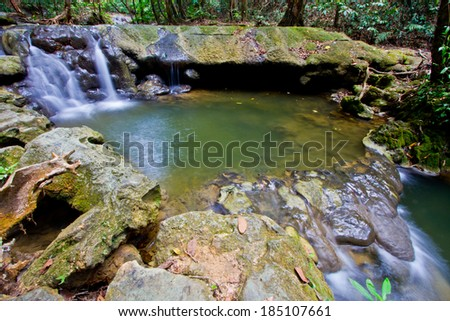 water fall forest nation park  - stock photo