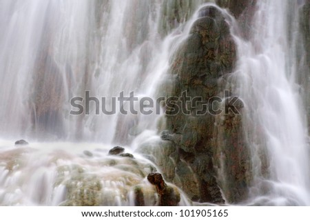 Water fall in spring season