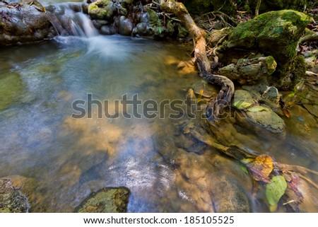 water fall PHANG-NGA KINNA-REE SA NANG MANO-RA forest nation park  - stock photo