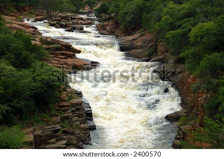 Water fall/rapids - stock photo
