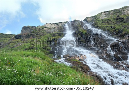 water fall view in Formazza valley (Italy)
