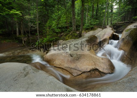 Water falls in Franconia Notch State Park