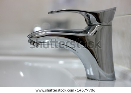 Water faucet - stock photo